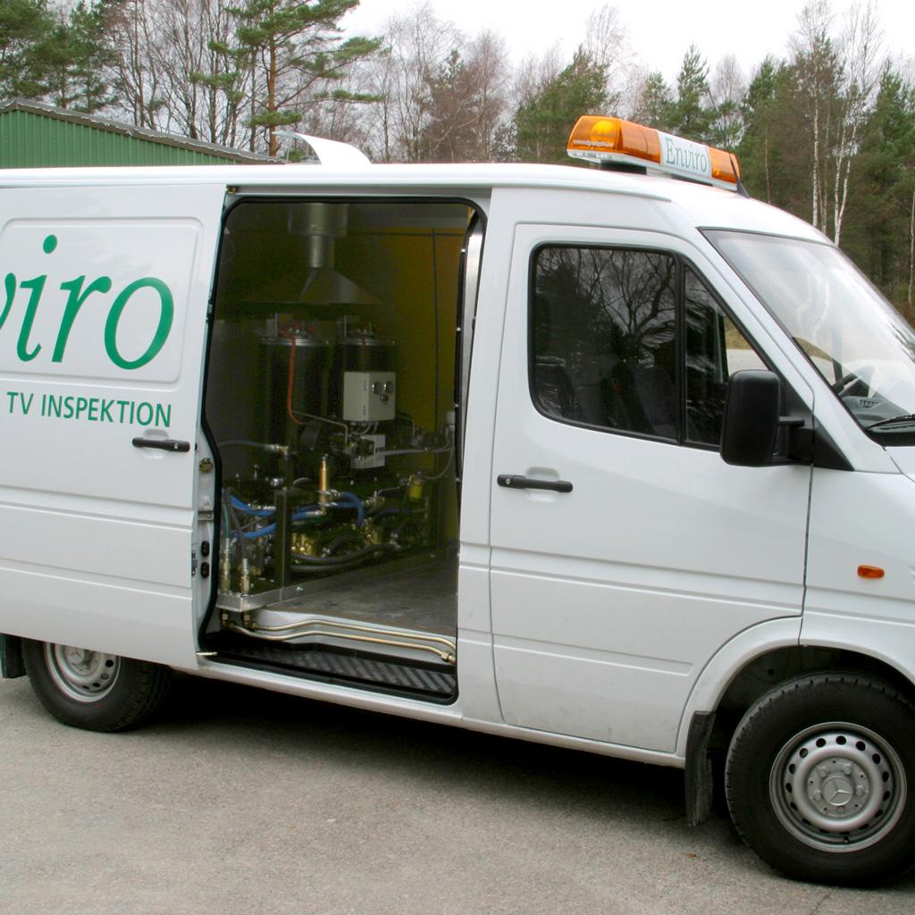 Servicebil med specialbyggt högtryckssystem